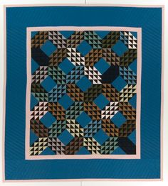 Hortense Beck, Ocean Waves 1996, Amish reproduction. From the International Quilt Study Center and Museum, University of Nebraska-Lincoln.