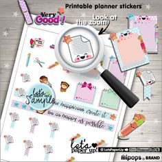 School Stickers Printable Planner Stickers Teacher by LetsPaperUp
