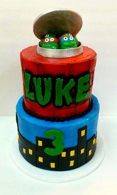 TMNT cake www.facebook.com/clairescutecakes