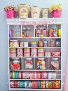 Craft storage ideas for small spaces. In need of many craft storage ideas to finally get your craft room organized? There are lots of posts here to help you so click through! Space Crafts, Home Crafts, Diy Crafts, Craft Space, Rustic Crafts, Simple Crafts, Card Crafts, Craft Room Storage, Craft Organization