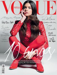 Cover with Sara Sampaio November 2012 of PT based magazine Vogue Portugal from Condé Nast Publications including details. Vogue Covers, Vogue Magazine Covers, Fashion Magazine Cover, Fashion Cover, Vogue Editorial, Editorial Fashion, Vogue Vintage, Foto Fashion, Trendy Fashion