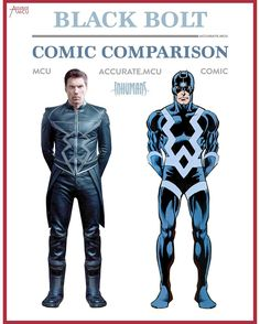 """3,892 Likes, 102 Comments - • Accurate.MCU • mcu fanpage (@accurate.mcu) on Instagram: """"• BLACK BOLT - COMIC COMPARISON • I know a lot of people disagree but I like Black Bolt his MCU…"""""""