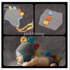 bebé recién nacido bebé hecha A mano de animales sombrero de ganchillo traje de la foto de la fotografía de la proposición traje de dinosaurioal por mayor , $10.02 on Es.dhgate.com | DHgate