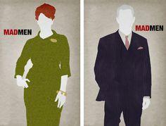 Minimalist Mad Men posters - ahh