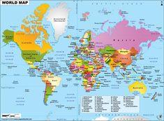 Maps of world, world map hd picture, world map hd image Free Printable World Map, Printable Maps, World Map Picture, Hd Picture, Flat World Map, World Geography Map, South Corea, World Political Map, World Globe Map