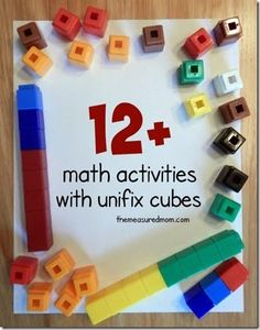 Unifix Cubes Math Activities - these are such a fun math manipulative to use to teach kids counting, addition, subtraction, and more!
