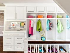Organizational Goals: 14 Spaces That Will Inspire You to Declutter — HGTV Storage Boxes, Storage Spaces, Storage Ideas, Cabinet Storage, Organizational Goals, Set Of Drawers, Bedroom Storage, Closet Storage, Shower Storage