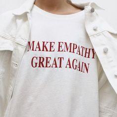 MACHEN EMPATHIE wieder große Damen t-shirt