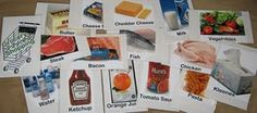 Grocery game for dramatic play, categorizing, sequencing...