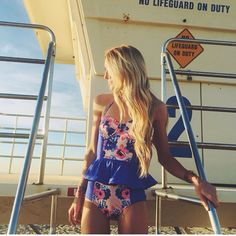 Swimsuit by Called To Surf - not a big fan of the ruffle but the rest is perfect