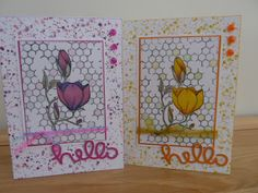 Focus on Papercraft: Hello, Hello - double trouble, two cards using a C...