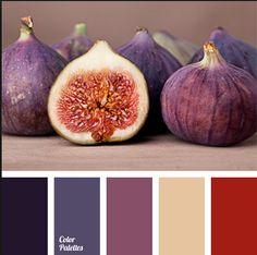 Eggplant color palette
