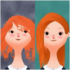 This is a red side swept look on toca hair salon 2... She looks pretty with this hair x)