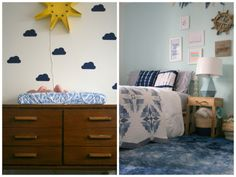 Calvin's California-Inspired Indigo Nursery   designed by Oh Lovely Day; photos by Jennifer Roper (click thru for shopping guide)