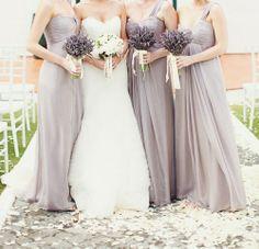 Lavender - One shoulder long dress