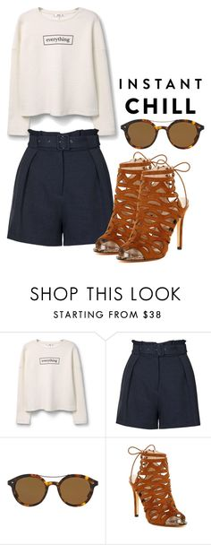 """""""Instant chill"""" by look4 ❤ liked on Polyvore featuring MANGO, Topshop, Giorgio Armani, Catherine Catherine Malandrino and shadesofyou"""