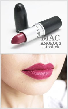 MAC Lipstick Amorous - The color is perfect for my skin tone, makes my lips look very juicy (so I've been told) :) Will definitely purchase again. by mayra Mac Lipstick Amorous, Berry Lipstick, Lipgloss, Mac Pink Lipsticks, Mac Fall Lipstick, Dark Pink Lipstick, Mac Lipstick Colors, Mac Lipstick Shades, Satin Lipstick