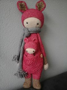 KIRA the kangaroo made by Patricia H. / crochet pattern by lalylala