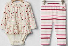GAP Baby Girl Lot Double Bodysuit 116461 Legging 690094 Heart Stripe 12-18 18-24 #babyGap #DressyEveryday #GAP116461 #GAP690094 #GAPdoublebodysuit #GAPbabygirlhearts