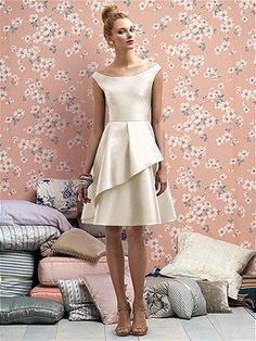 Rehearsal Dinner Dress in Ivory.   Lela Rose Bridesmaids Style LR176 http://www.dessy.com/dresses/lelarose/lr176/