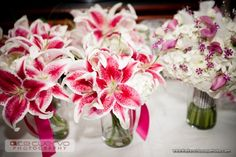 wedding centerpieces with tigerlillys | Pink Tiger Lily Bridesmaid Bouquets - The French Bouquet - Ace Cuervo ...