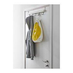 De hanger kan op twee manieren worden gemonteerd: aan de muur of over de bovenkant van een deur, zodat je dat oppervlak kan gebruiken voor het ophangen van kleren, riemen en tassen.