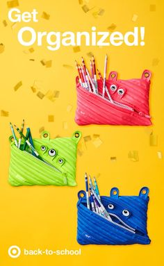 When it comes to back to school supplies, these Zipit Monster Pencil Cases are about as fun as it gets. Plenty of space for pencils, plus google eyes and zipper teeth to make sure those school supplies stay put! If there's spare time at the art table, those supplies can turn into art by giving these mini poster cases a brand new 'do.
