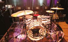Matt Helders' drum kit Circa 2007- miked with Sennheiser e 901 and Shure Beta 52 (kick); Sennheiser e 905 (snare top and bottom); Shure SM81 (hi-hats); Sennheiser e 904 (toms); and two AKG 414s (overheads). According to Doyle, there's also a third overhead that doubles as Helders' vocal. #arcticmonkeys