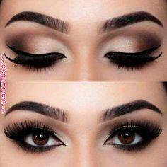 #BeautyHacksEyelashes Makeup Bronze, Bronze Eyeshadow, Eyeshadow Tips, Eyeshadow Makeup, Gray Eyeshadow, Maybelline Eyeshadow, Eyeshadow Palette, Dramatic Eyeshadow, Color Eyeliner