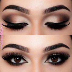 #BeautyHacksEyelashes Makeup Bronze, Bronze Eyeshadow, Eyeshadow Tips, Eyeshadow Makeup, Gray Eyeshadow, Maybelline Eyeshadow, Glitter Makeup, Eyeshadow Palette, Dramatic Eyeshadow
