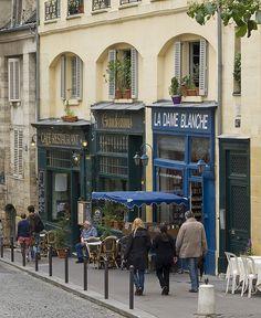 Quartier Latin, Rue de la Montagne, Paris..