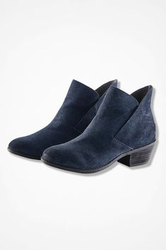 "975ea3a6b8 ""Zena"" Suede and Tapestry Boots by Adam Tucker"
