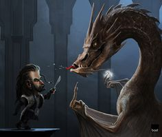 art,арт,красивые картинки,Hobbit,Thorin,Dragon,карикатура,Смауг,Темная Арда,Арда,фэндомы