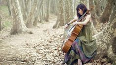 Cello Girl in The Forest Music HD Wallpaper