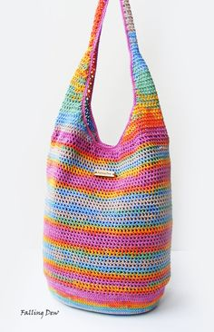 Crochet Handbag / FREE EARRINGS / Crochet Purse by FallingDew, £43.00