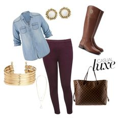 """""""Fall"""" by mjmagallan on Polyvore featuring M&Co, maurices, H&M, Tory Burch, Louis Vuitton, Kendra Scott and Aéropostale"""