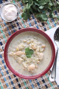 Slow Cooker White Bean Chicken Chili with Hominy