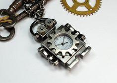 Steam Punk Robot Necklace