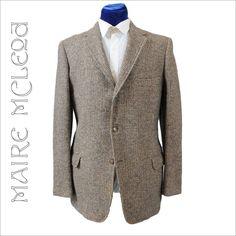 Elegant Vintage 60's Men's Harris Tweed Sport Coat Jacket *41-42  *3 Btn at rubylane.com