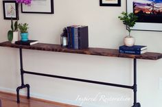 Industrial Pipe Console Table by InspiredRestoration on Etsy