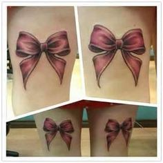 Bow Tattoo - love this one,  Go To www.likegossip.com to get more Gossip News!