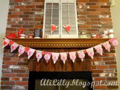 Valentine's Day Burlap Bunting Banner