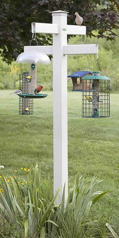 http://Duncraft.com: Duncraft Masterpiece Quad 4 x 4 Bird Feeder Post