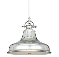 View the Quoizel ER1814 Emery 1 Light Pendant with Steel Shade at LightingDirect.com.