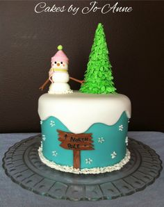 Snowman at the North Pole - by Cakes by Jo-Anne @ CakesDecor.com - cake decorating website