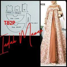 Long Dress Patterns, Dress Sewing Patterns, Sewing Patterns Free, Clothing Patterns, Abaya Pattern, Pants Pattern, Street Hijab Fashion, Abaya Fashion, Dress Brokat