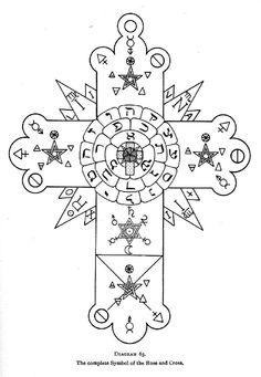 Early Rosicrucian cross