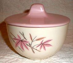 Pink Bamboo Sugar Bowl By Salem China by Buddhagal on Etsy