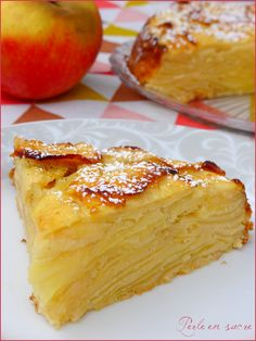 Easy Cake Recipes - New ideas Apple Cake Recipes, Apple Desserts, Köstliche Desserts, Easy Cake Recipes, Desserts Faciles, Summer Dessert Recipes, Vegan Dessert Recipes, Delicious Desserts, Cooking Recipes