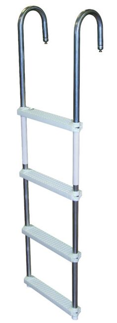 JIF - DMM4 ~ 4-STEP PONTOON SWIM LADDER [DMM4] - $93.63 : Boat Ladders - Pontoon Boat Ladder - Dock Ladders for Less, Boat-Ladders-Store.com